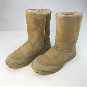 UGG Tan Sheepskin Ultimate Short Boots #5275